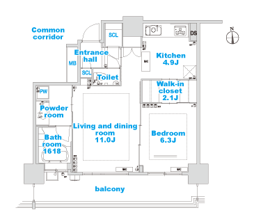 H-1 layout image
