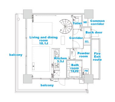 type L layout image