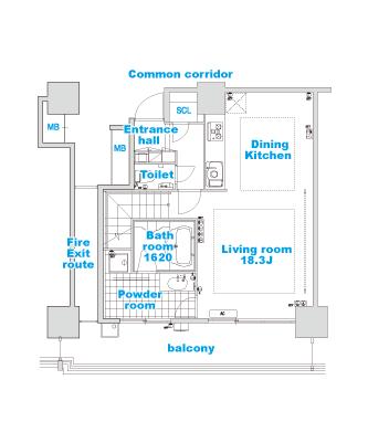type M layout image