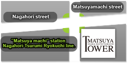 map The matsuya tower rental apartment/condominium in Osaka
