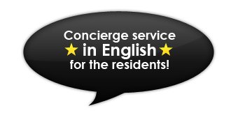 Consierge service in English for the residents!