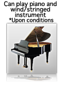 Can play piano and wind/stringed instrument *Upon conditions