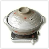 大型土鍋、卓上ガスコンロ
